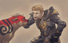 Alistair and Dog by Vamtaro  And this is why I love him-them.