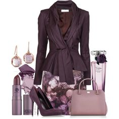 Aubergine and Floral, created by itscindylou on Polyvore