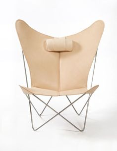 Butterfly Chair - by a Danish designer, made in Argentina. Originally designed by three Argentinean architects in 1938. In Argentina, the chair is almost a national symbol (chairs is seen especially in Buenos Aires), as it undoubtedly is Argentina's most famous contribution to modern furniture design.