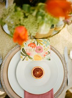 Blood Orange Place Setting   photography by http://michellecrossphotography.com/