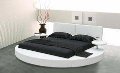 round platform bed