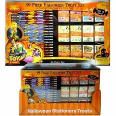 90pc Disney Halloween Treat Kit Stationery Set in a Box . $24.99