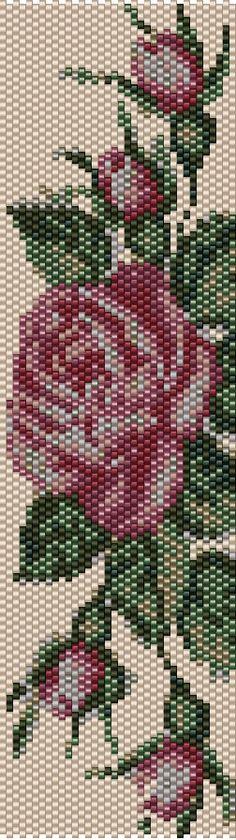 Rose Peyote & Loom Pattern BT-005.2