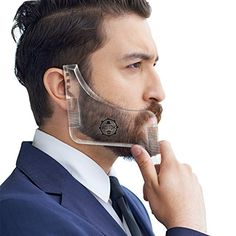 AMTOK Beard Shaping Tool Template Beard Ruler Beard Shaper Guide Comb