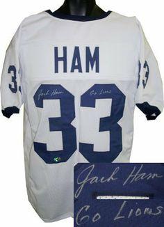 577c2b79f Jack Ham signed Penn State Nittany Lions White Custom Jersey Go Lions .   217.17. Jack
