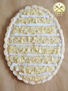 Mazurek z białą czekoladą i migdałami Polish Easter, Easter Recipes, Easter Desserts, Creative Food, Delicious Desserts, Cake Decorating, Food And Drink, Bread, Baking