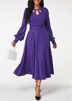 3cdd3bda1 Belted Dress, Sheath Dress, Lace Dress, Blouse Designs, Purple Dress  Outfits,