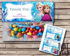 Personalised Frozen party bag labels