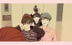 bts maknae line fanart Taekook, Vmin, Loli Kawaii, Bts Maknae Line, Army Love, Bts Drawings, Jimin Jungkook, Bts Taehyung, Bts Chibi