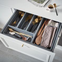 GoodHome Nitaki Plastic Non adjustable Cutlery tray  (H)60mm (W)314mm.