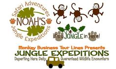 Childrens Vinyl Wall Decal- Jungle Nursery FULL ROOM Collection
