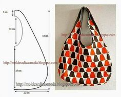 Sew a bag made of fabric with your hands. reversible bag Mod@ en Line Bolsa tecido com molde - Mari Belajar Menjahit Moules Fashion for Measure: SACS avec des mesures Cute and easy bag pattern Bag Patterns To Sew, Sewing Patterns, Patchwork Patterns, Fabric Patterns, Diy Couture, Patchwork Bags, Simple Bags, Easy Bag, Denim Bag