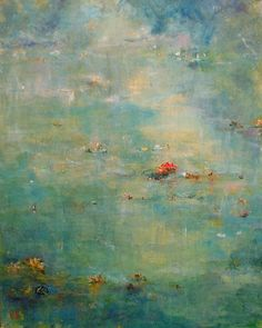 """Lily Pond II"", Katie Cheung, Acrylic on canvas."