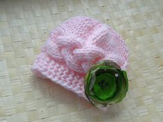 Baby Girl Hat Knit baby hat  Newborn Hat Photo Prop Baby by Ifonka, $17.00