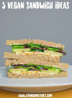 3 easy vegan sandwich fillings living on leaves so simple and delicious