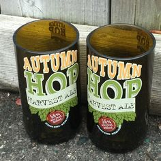 Amsterdam Brewing Co. Set of 2 Brewing Co, Coffee Cans, Amsterdam, Ale, Drinking, Upcycle, Autumn, Glasses, Products