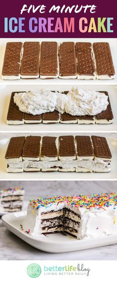 Make Ice Cream Cake, Ice Cream Birthday Cake, Ice Cream Desserts, Homemade Ice Cream, Frozen Desserts, Ice Cream Cakes, Ice Cream Cookie Cake, Easy Birthday Cake Recipes, Chocolate Ice Cream Cake