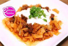 Weißkohl - Rindergulasch - Rezept von Eat Clean - Burcu´s Kitchen Zucchini, Grains, Tacos, Rice, Mexican, Chicken, Meat, Ethnic Recipes, Kitchen