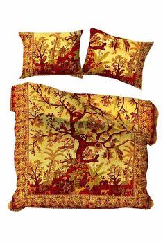 Bohemian Tree Of Life Mandala BedCover Hippie Queen Cotton Indian Duvet Covers Mandala Duvet Cover, Mandala Tapestry, Tapestry Wall, 100 Cotton Duvet Covers, Cotton Bedding, Bohemian Bedding Sets, One Bed, Duvet Cover Sizes, Bed Throws