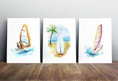 Art-peintures-gravures-Surf planche à voile planche à voile-surf sports-surf art…