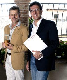 Mikhail Baryshnikov and Zefferino Monini. Spoleto, Italy. August 01, 2012.