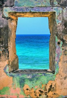 Blue - window looking out to sea