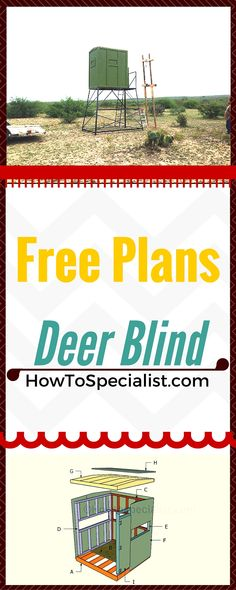 How to build a deer blind - Easy to follow instructions, guides and free plans for building a hunting deer stand!