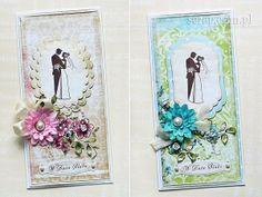 kartki ślubne z użyciem papierów kolekcji Idylla