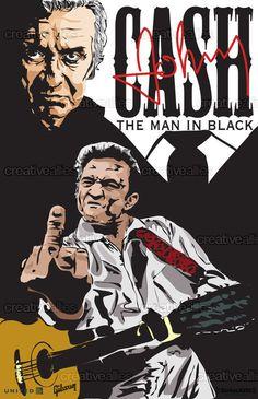 Johnny Cash Poster by Armando Olivares on CreativeAllies.com