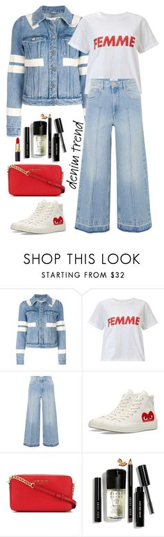 """""""WideLegJeans"""" by orrinn ❤ liked on Polyvore featuring Givenchy, Miss Selfridge, Étoile Isabel Marant, Converse, MICHAEL Michael Kors, Bobbi Brown Cosmetics, denimtrend and widelegjeans"""