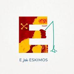 "E jak ... Eskimo in Polish means Eskimos: ""E is for ESKIMOS"" If you wish to learn more Polish words follow us on @otoabc  #otoabc #naukaczytania #literki #pokojdziecka #homeschool #home #alphabet #kidsroom #poster #polishlanguage #illustration #drawing #kids #kid #fun #nature #alphabetletters  #letterart  #letteringdaily"