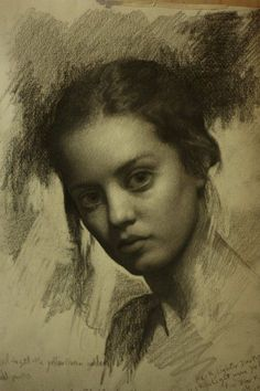 Pencil on toned paper. Cesar Santos.