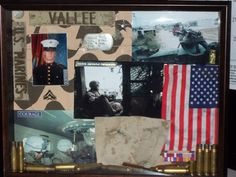 Military Marine Corps Shadow Box I custom made for my sister, honoring our brother, Sgt. James Vallee