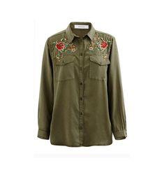 Koszula z haftem khaki - Promod