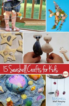 Love these seashell crafts for kids ideas - we always have buckets full of shells from the beach!