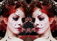 Sugar Skull Queen of Hearts Makeup, Hair, Picture, Edition by me Queen Of Hearts Makeup, Sugar Skull, Halloween Face Makeup, Random, Hair, Pictures, Ideas, Photos, Sugar Skulls