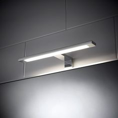 Sensio Neptune Over Mirror T-Bar LED Light This t-bar light is perfect for introducing additional lighting into the bathroom. Perfect for illuminating a cabinet mirror. Need bathroom lighting? Light Up Bathroom Mirror, Bathroom Sconce Lighting, Bathroom Mirror Lights, Mirror Lamp, Bathroom Sconces, Bathroom Light Fixtures, Cabinet Lighting, Mirror With Lights, Bar Lighting