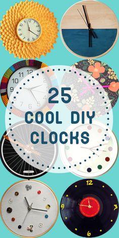 25 Cool DIY Clocks  | Remodelaholic.com