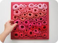 Love this!   Modern Fiber Art Soft Sculpture in Red by cornflowerbluestudio