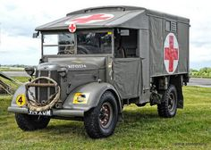 Ambulance Blood Wagon Taken at Battle Group North Elvington 2014 Dad's Army, Maximum Effort, Army Vehicles, Battle Tank, Car Drawings, Emergency Vehicles, British Army, Ford Trucks, Old Cars