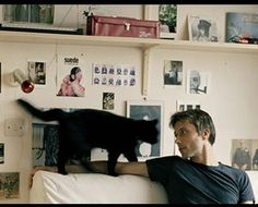 Brett Anderson of Suede, and black cat. Men With Cats, Cat People, Nice People, Beautiful People, Brett Anderson, Goth Boy, What Cat, Britpop, Man Photo