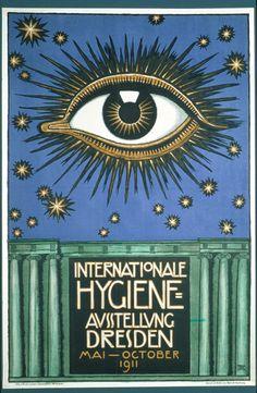 Franz von Stuck, Internationale Hygiene Ausstellung, 1911. Dresden, Germany.