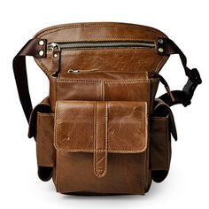 132317f2b7 Vintage Genuine Leather Mobile Phone Camera Outdoor 11 Inches Leg Bag Waist  Bag is hot-sale