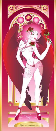 VirgoByArtistHazzard by alt-couture on DeviantArt - Edna Barefoot - Astrology party Virgo Art, Virgo Sign, Zodiac Art, Astrology Zodiac, Astrology Signs, 12 Zodiac, Virgo Pictures, Virgo Images, Zodiac Signs Pictures