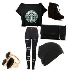 """Starbucks outfit"" by cherireese on Polyvore"