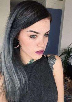Cabello de carbón: El nuevo color de pelo que se lleva - Carbón con mechas de luz