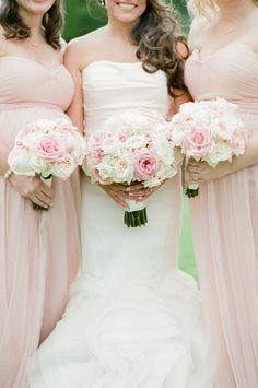 #pink, #roses  Photography: Tamara Gruner Photography - tamaragruner.com Bridesmaids Dresses: Jenny Yoo - www.jennyyoo.com/ Wedding Dress: Vera Wang - www.verawang.com/ Floral Design: Abby Flower Design - www.abbyflowersdesign.com/