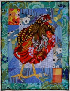 Lady in Red, Ruth B McDowell quilts