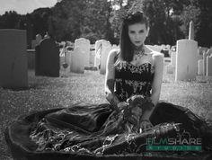 Black Wedding Dress Ready to Ship by WeddingDressFantasy on Etsy