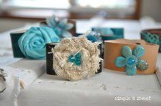 Vintage Inspired Leather Cuff Bracelets DIY